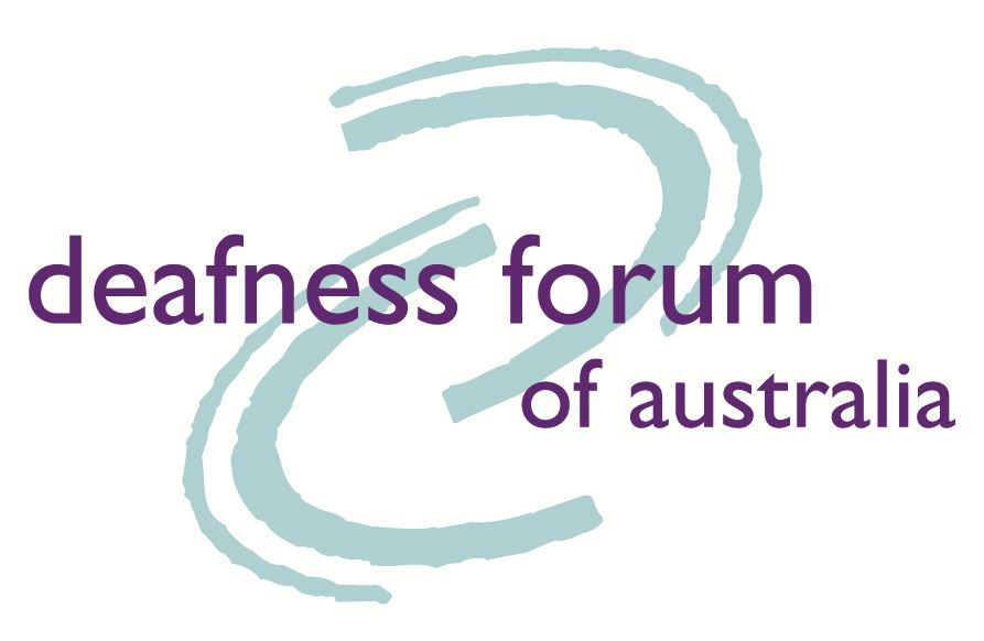 Deafness Forum logo