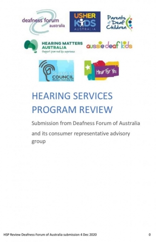 hearing services program review submission